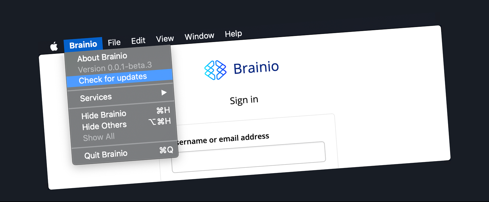 Brainio - Automatic updates in Electron (macOS and S3)